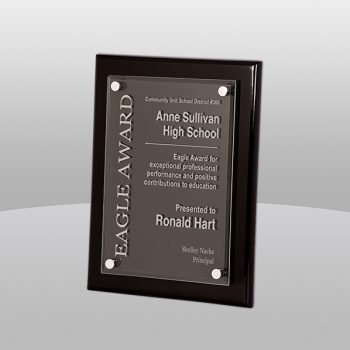 Black Raised Acrylic Plaque